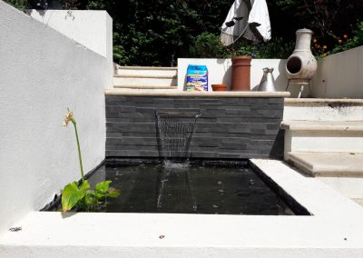 Garden water feature in back garden