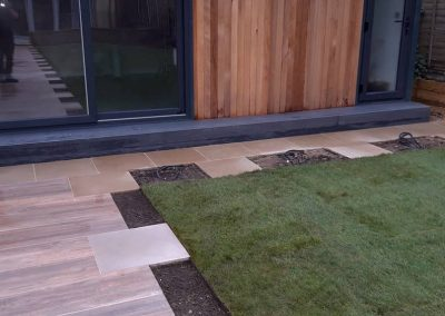 patio flagstones with gaps for planting