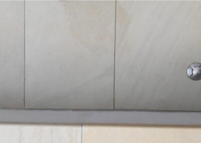 lighting embedded in porcelain steps