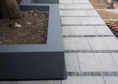 tiles bordering large garden