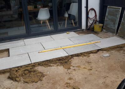 rectangle paving stones for back garden