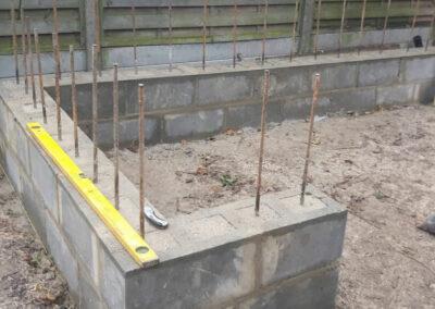 concrete bricks in garden construction