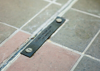 Grey and red outdoor tiles